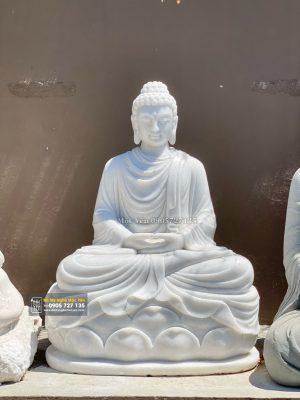 Tượng Phật Bổn Sư Bằng Đá Trắng Non Nước