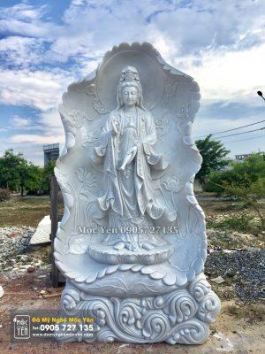 Tượng Phật Quan Âm đứng Lá Sen