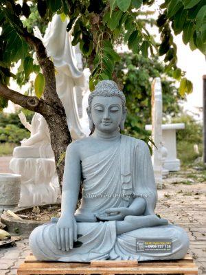tượng phật bổn sư thích ca bằng đá sa thạch