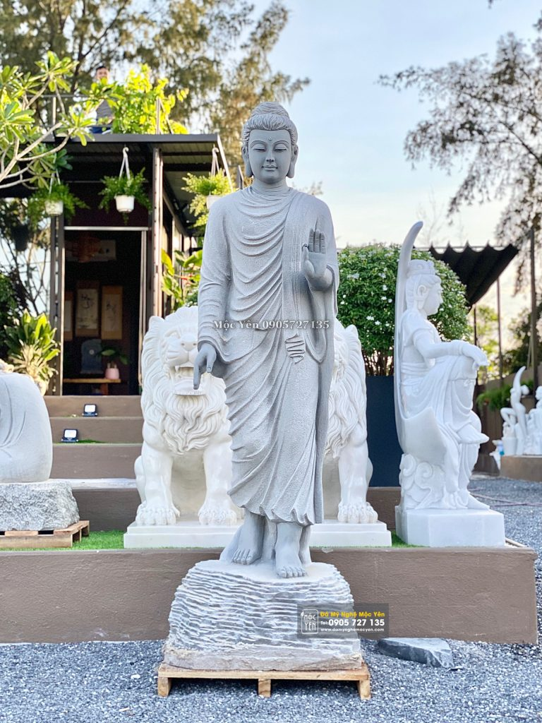 Tượng Phật Thích Ca ban phước cao 1 mét 6